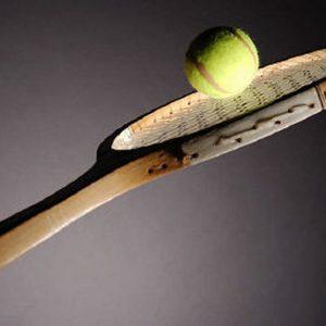 sporten met een racket